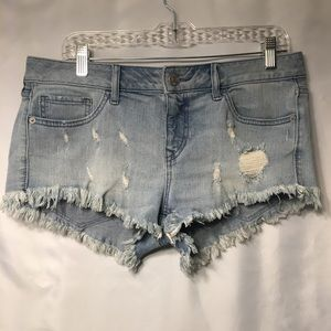 Express Distressed Ripped Jeans Shorts size 10
